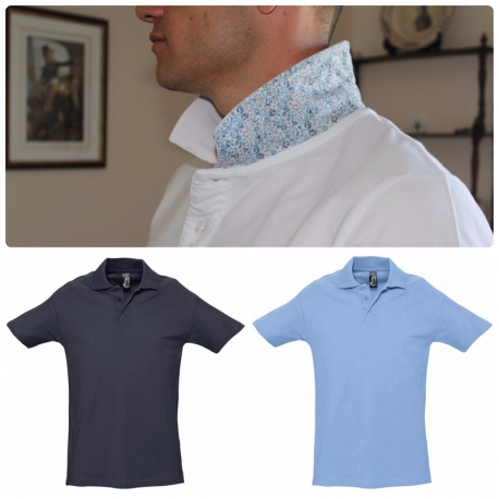 Polo homme col liberty