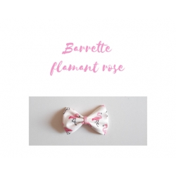 barrette flamant rose