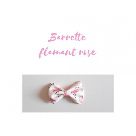 barrette flamant rose