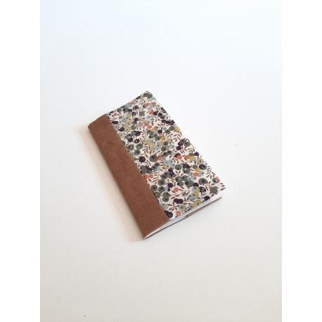 porte chéquier en liberty wiltshire lichen