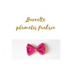 barrette plumetis fuchsia