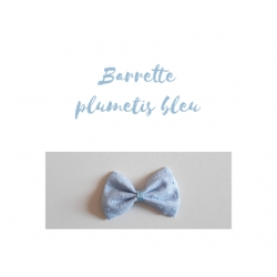barrette plumetis bleu ciel