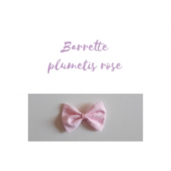 barrette plumetis rose