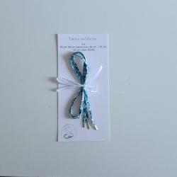 Lacets en liberty wiltshire bleu crystal