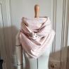 Grand foulard en liberty wiltshire bud et polaire écrue