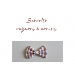 barrette rayée marron