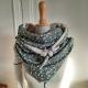 Grand foulard viscose vert