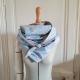 Grand foulard liberty bleu ciel